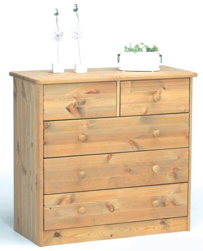 MARIO Kommode Kiefer massiv 2+3 Schubladen lackiert DETAIL_IMAGE 2