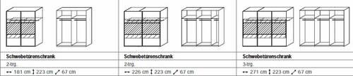 Boreta komplett Schlafzimmer mit Schwebetürenschrank II  DETAIL_IMAGE 2