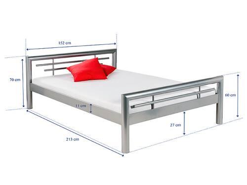 SONJA Metallbett / Doppelbett silber oder weiß  DETAIL_IMAGE 2