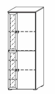 COOKIE Türelement 4trgl Regal links Alpinweiss/grau DETAIL_IMAGE 2