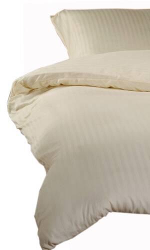 Yamuna Satin-Bettwäsche 135x200 cm elfenbein Damast-Streifen  DETAIL_IMAGE 2
