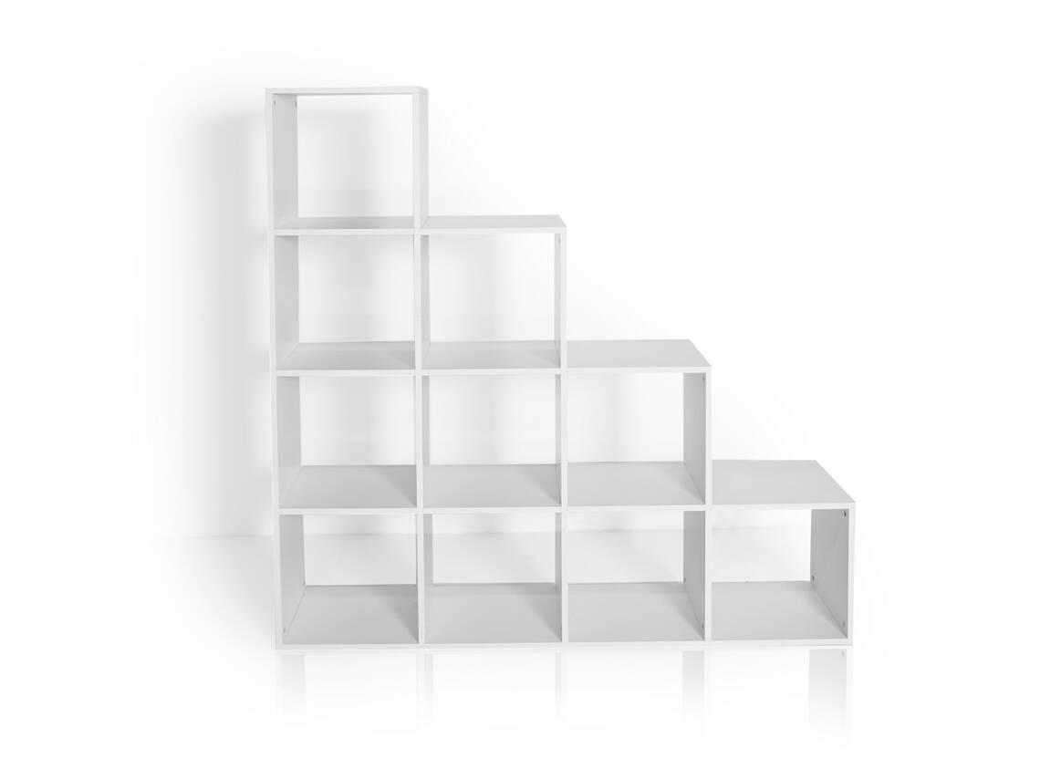 regal treppe laluna gro weiss. Black Bedroom Furniture Sets. Home Design Ideas