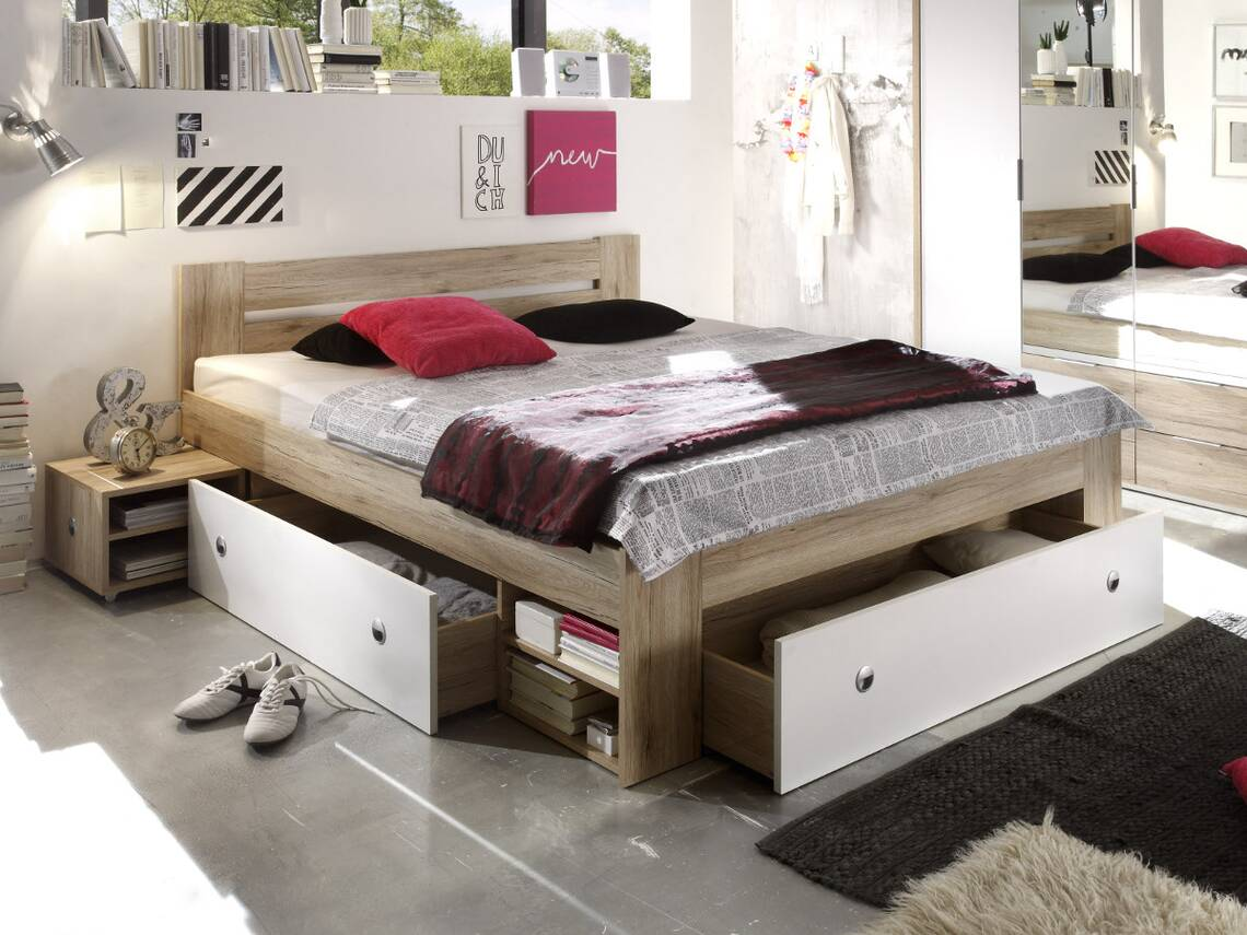conny futonbett 140 x 200 cm detail image 2. Black Bedroom Furniture Sets. Home Design Ideas