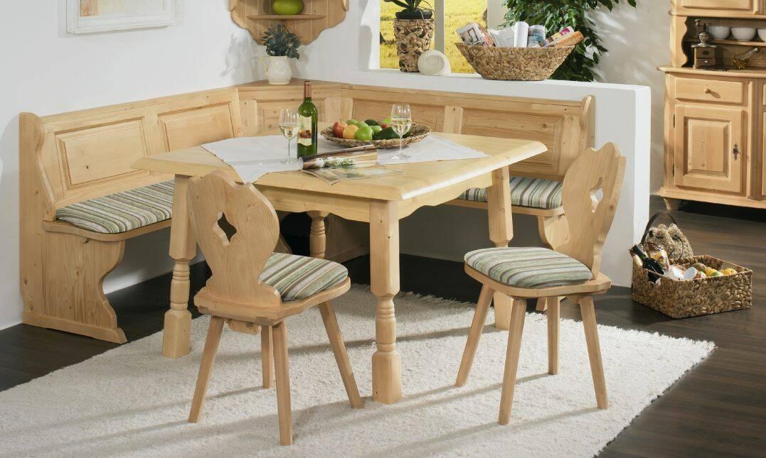 Esstisch Massivholz Reduziert : BERND Massivholz Esstisch Fichte 120 x 120 cm DETAILIMAGE 2