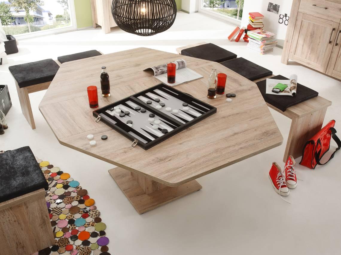 San Remo Eiche Hell Tisch : LEROY 6EckTisch  Esstisch Eiche San Remo hell DETAILIMAGE 2