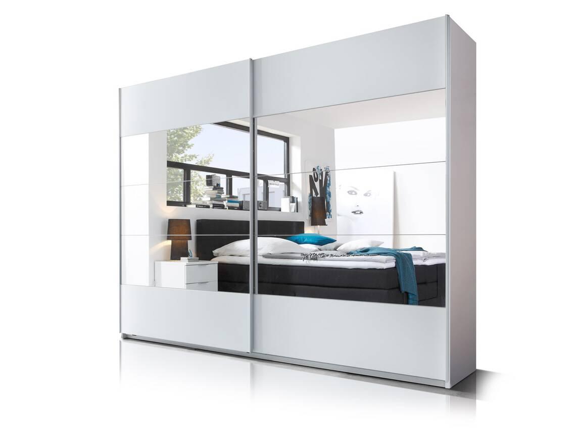 Schwebet renschrank paris wei mit spiegel - Jugendzimmer komplett mit schwebeturenschrank ...