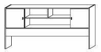 COOKIE Regalüberbau Alpinweiss/grau DETAIL_IMAGE 2