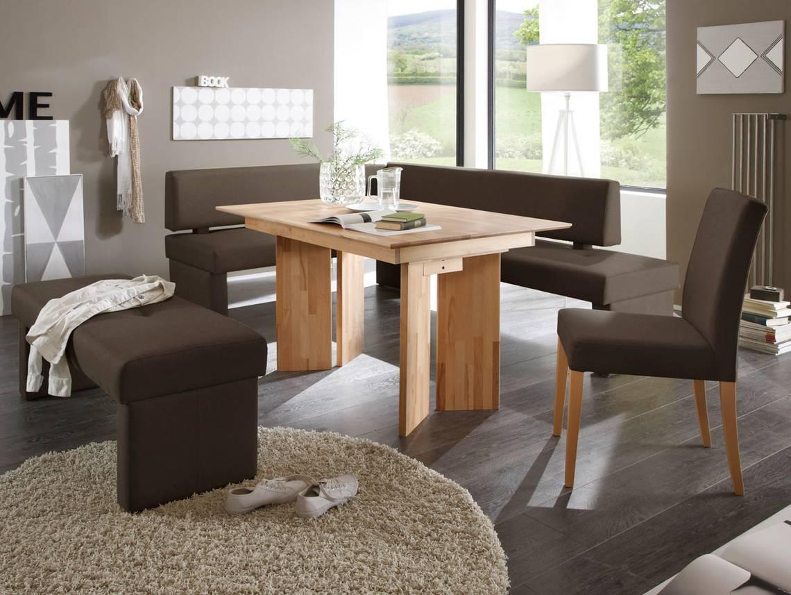 spider eckbank mit stoffbezug braun rechts 147 x 167 cm. Black Bedroom Furniture Sets. Home Design Ideas