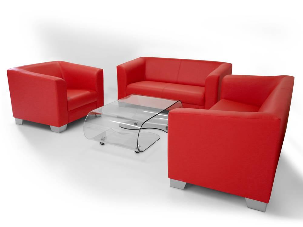 chicago 2er sofa ledersofa schwarz. Black Bedroom Furniture Sets. Home Design Ideas