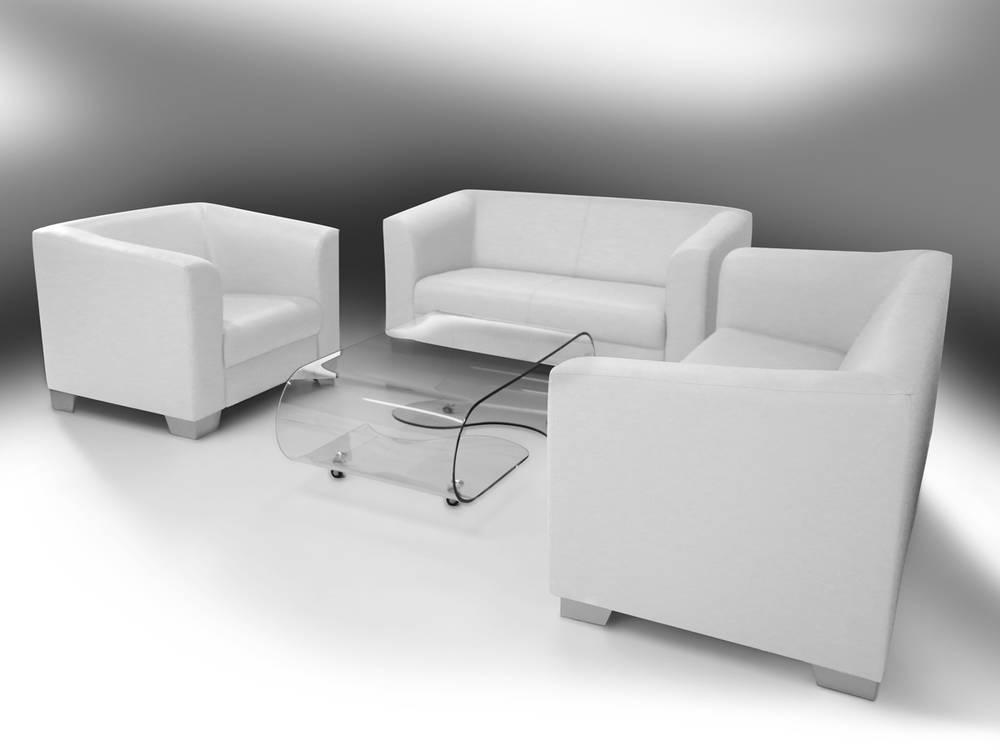chicago sofa couch 2-sitzer weiß weiss kunstleder kunstledercouch, Hause deko