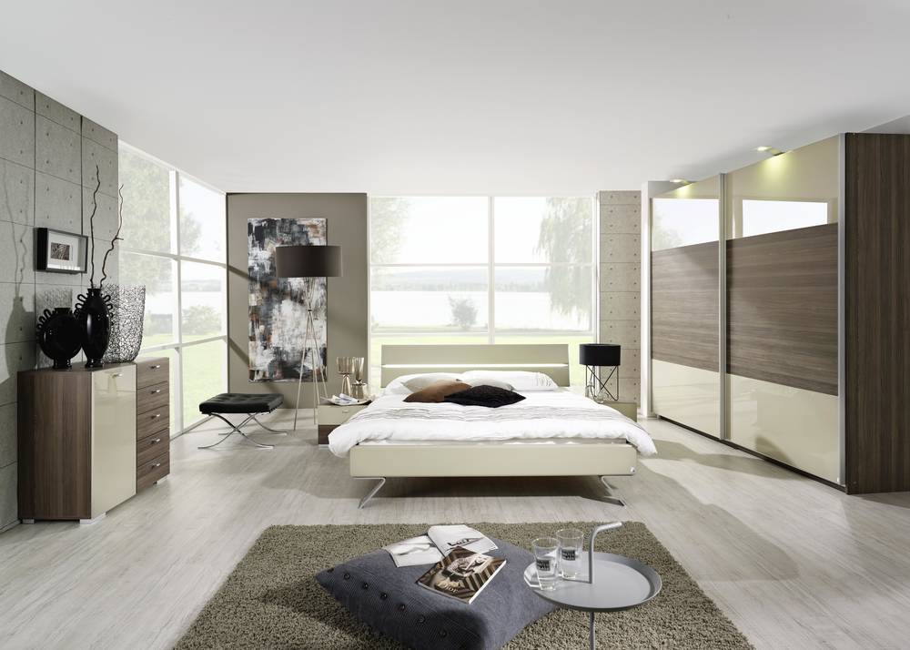 avia nachttisch 2 schubk sten eiche sonoma sandgrau. Black Bedroom Furniture Sets. Home Design Ideas