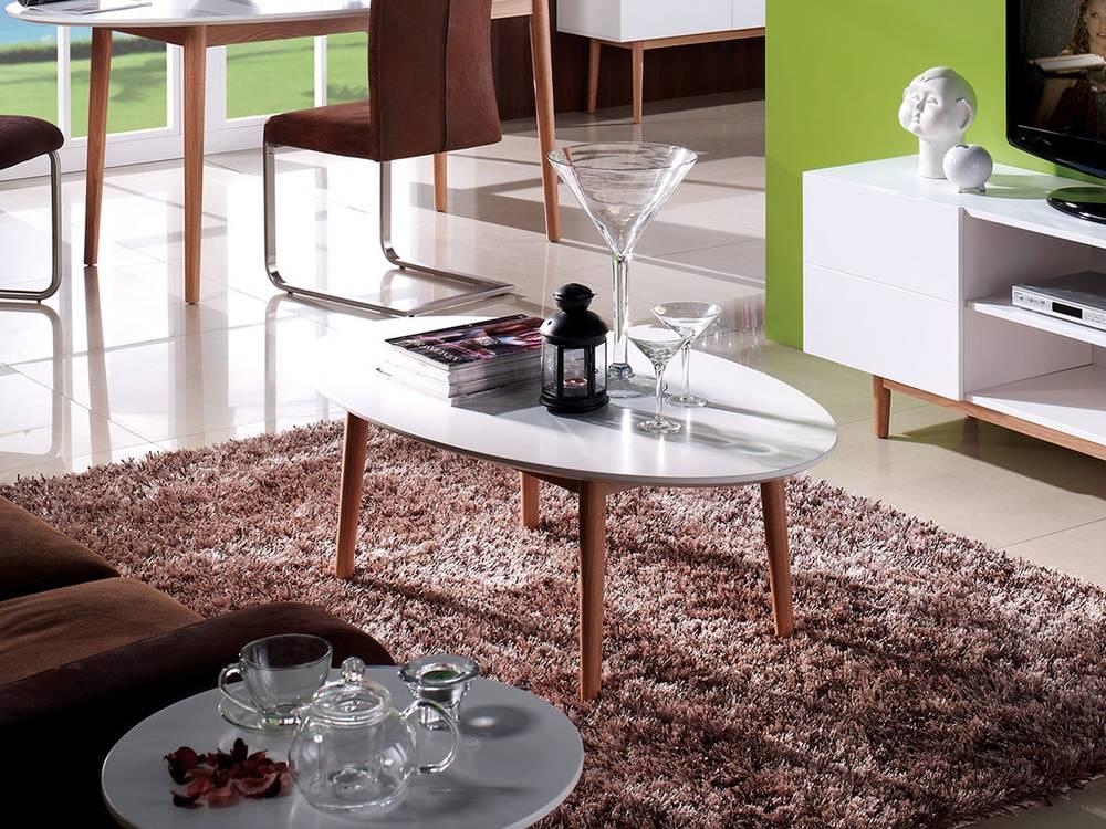 Couchtisch Eiche Weiß Geölt ~ Couchtisch Oval Weiss Eiche Massivholz Beistelltisch Wohnzimmer Holz