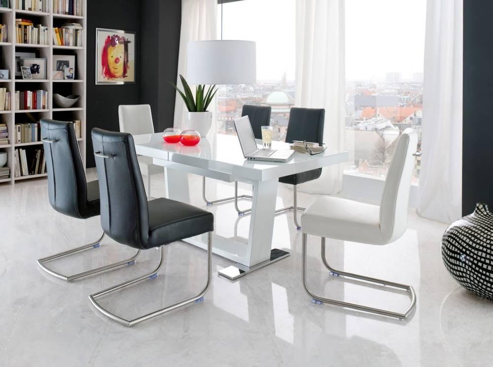 maika esstisch hochglanz wei 160 240x90 cm. Black Bedroom Furniture Sets. Home Design Ideas