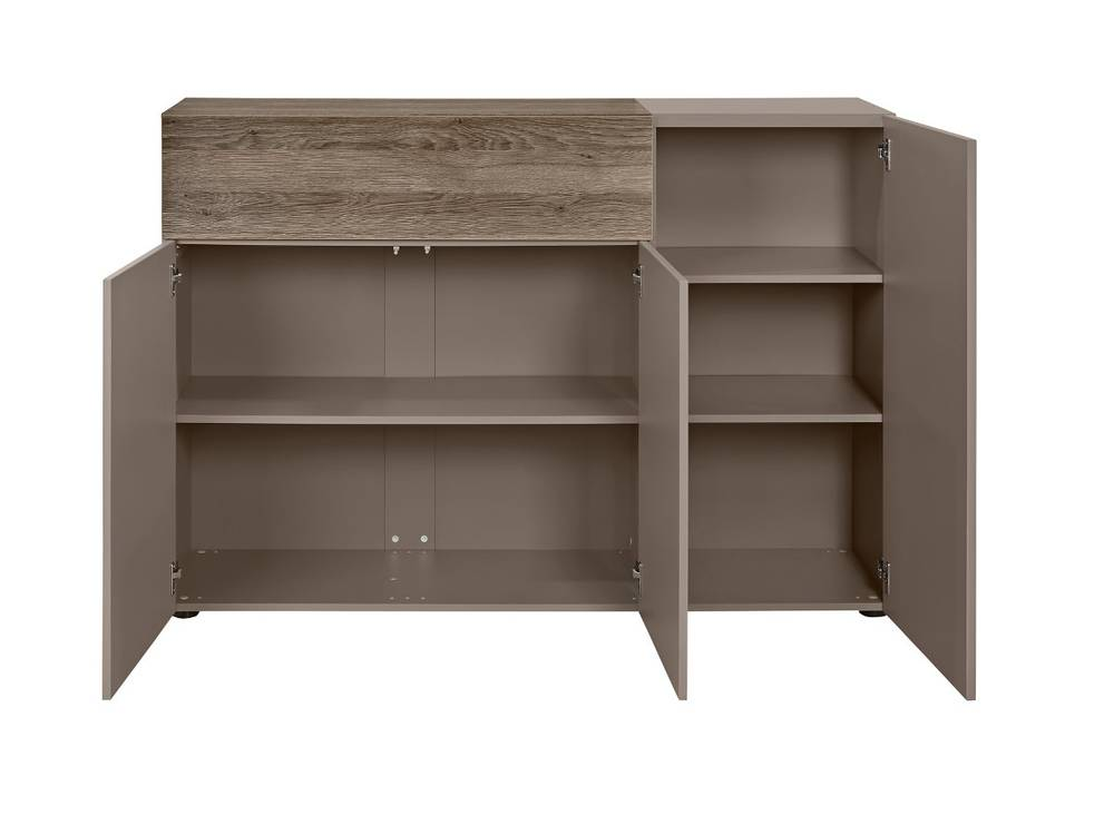 arte m beam k kommode 3 t ren 1 schublade weiss eiche sand. Black Bedroom Furniture Sets. Home Design Ideas