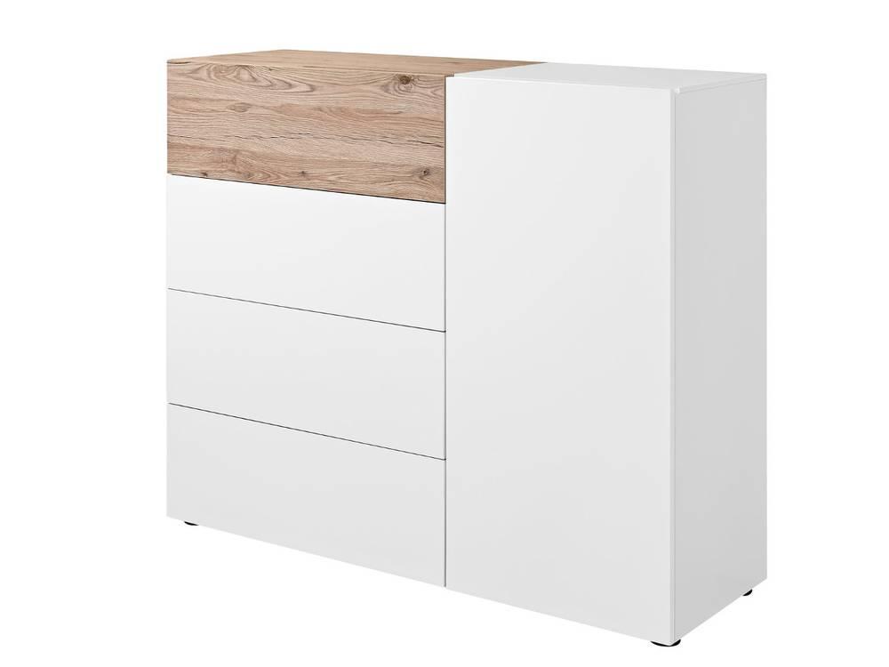 arte m beam k kommode 1 t r 4 sk wei eiche sand. Black Bedroom Furniture Sets. Home Design Ideas