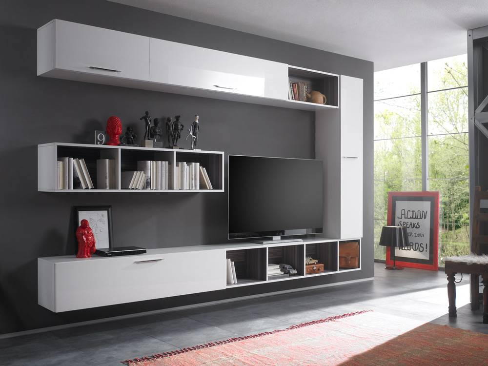 cariba h ngeregal 140 wei hochglanz streifen. Black Bedroom Furniture Sets. Home Design Ideas