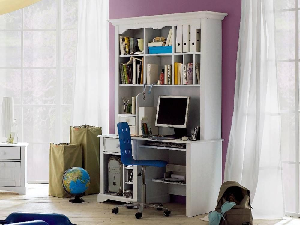 cinderella premium aufsatz f r pc schreibtisch kiefer wei. Black Bedroom Furniture Sets. Home Design Ideas