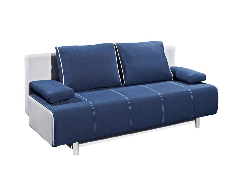 inka schlafsofa schlafcouch weiss blau. Black Bedroom Furniture Sets. Home Design Ideas