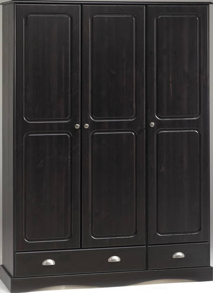 kleiderschrank rio kiefer massiv dunkel gebeizt 89 cm. Black Bedroom Furniture Sets. Home Design Ideas