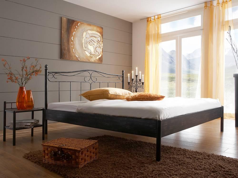 palermo metallbett doppelbett. Black Bedroom Furniture Sets. Home Design Ideas