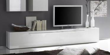 portia tv unterteil wei hochglanz lackiert. Black Bedroom Furniture Sets. Home Design Ideas
