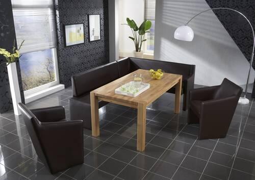 PINO Eckbank / Sitzbank / Lederbank BIG 171 x 248 cm | links | rehbraun DETAIL_IMAGE 3