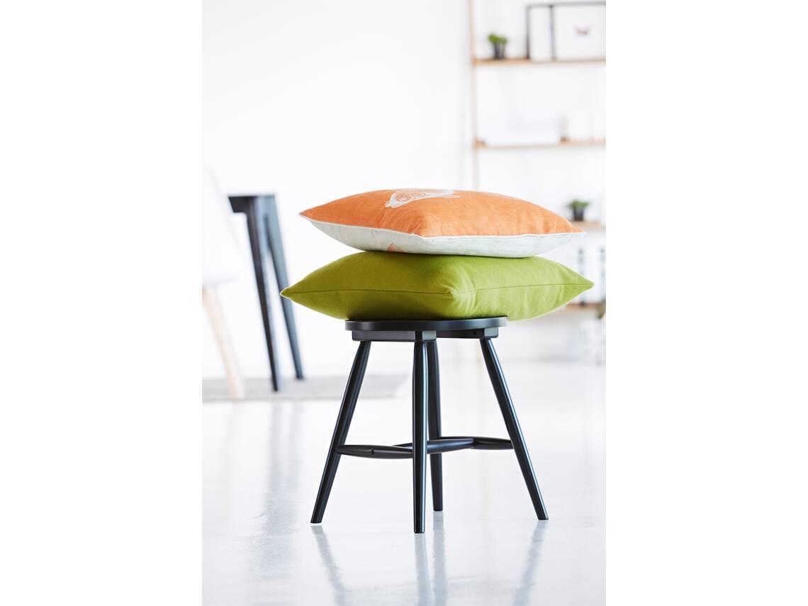 orco hocker massivholz birke schwarz lackiert. Black Bedroom Furniture Sets. Home Design Ideas