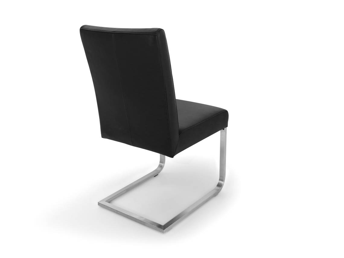 bea echtleder esstischstuhl freischwinger schwarz. Black Bedroom Furniture Sets. Home Design Ideas