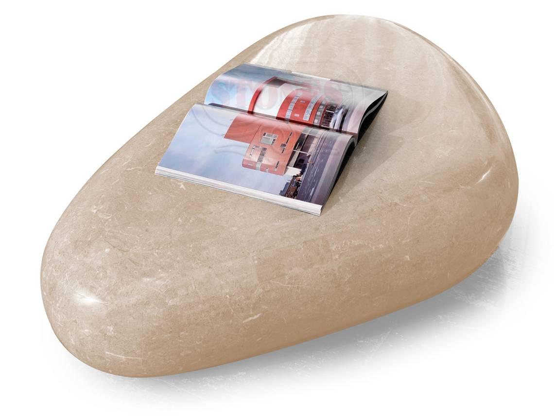 Couchtisch aus fossilem Stein braun