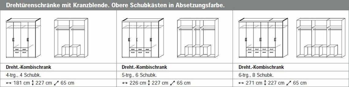 RIXI Komplett-Schlafzimmer 160 x 200 | 181 cm | ohne Spiegel DETAIL_IMAGE 3