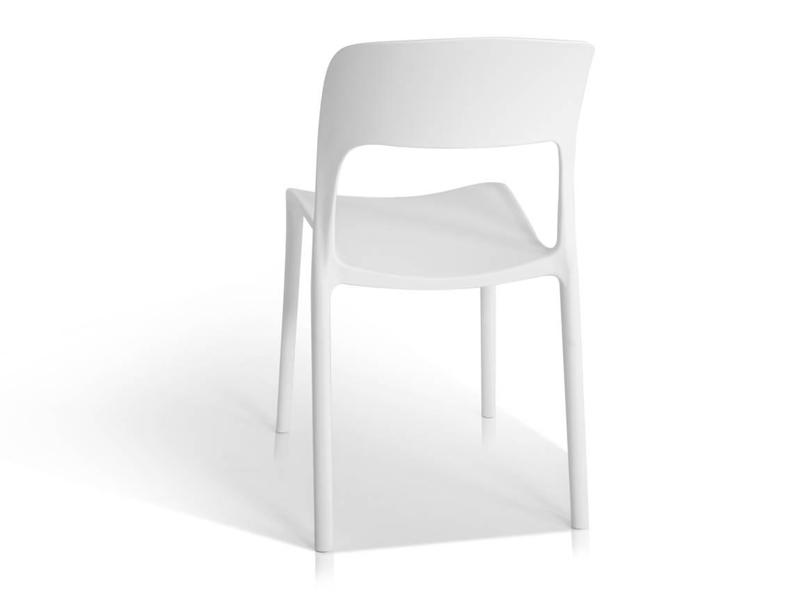 florian kunststoff stuhl wei. Black Bedroom Furniture Sets. Home Design Ideas