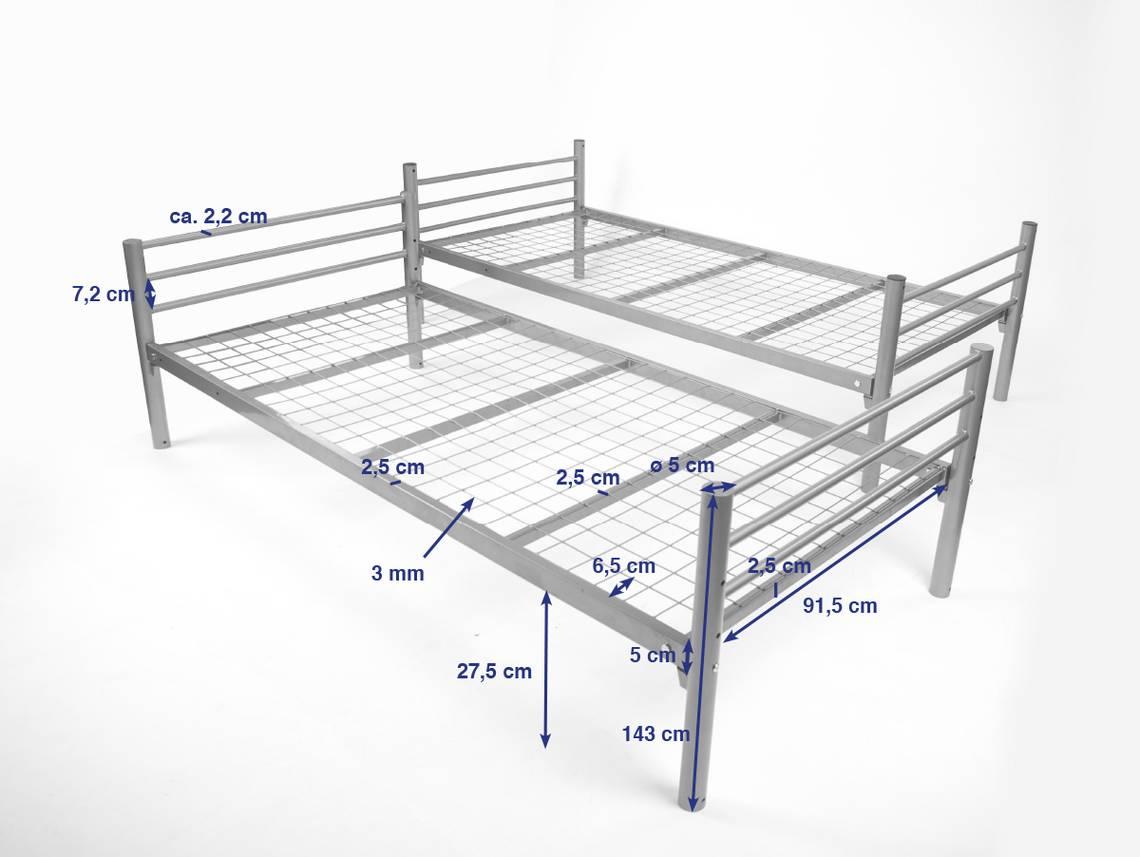 jonny etagenbett aus metall 2 in 1 doppelstockbett t v gepr ft. Black Bedroom Furniture Sets. Home Design Ideas