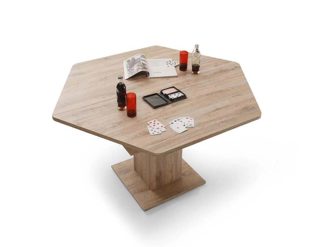 San Remo Eiche Hell Tisch : LEROY 6EckTisch  Esstisch Eiche San Remo hell DETAILIMAGE 3