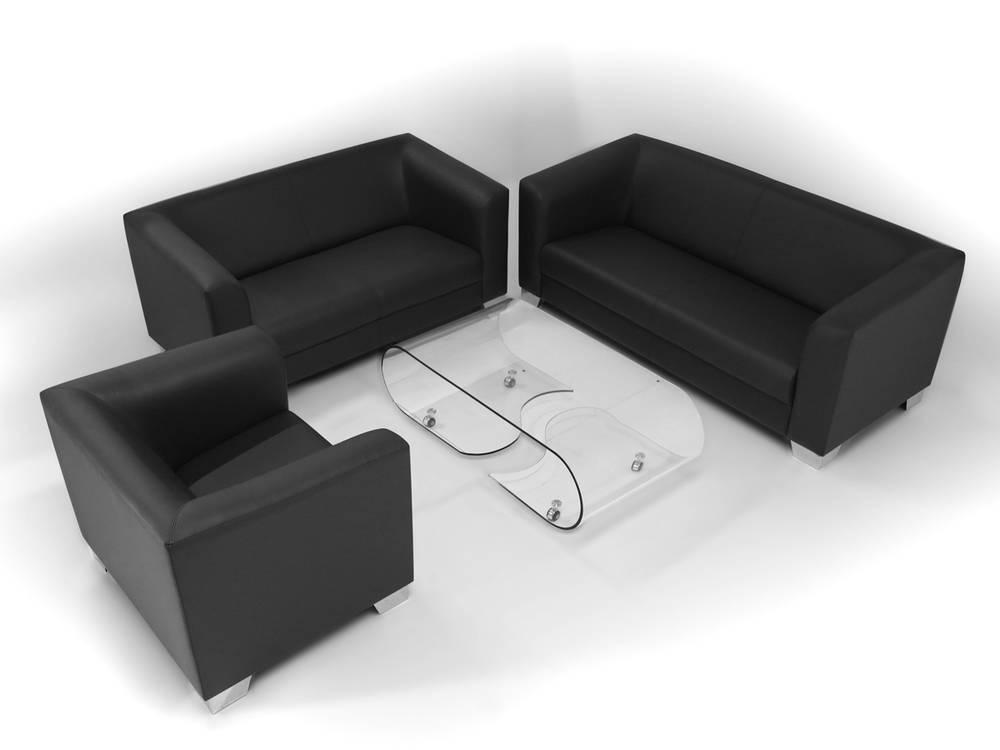 chicago sofa couch 2-sitzer schwarz kunstleder kunstledercouch 2, Hause deko