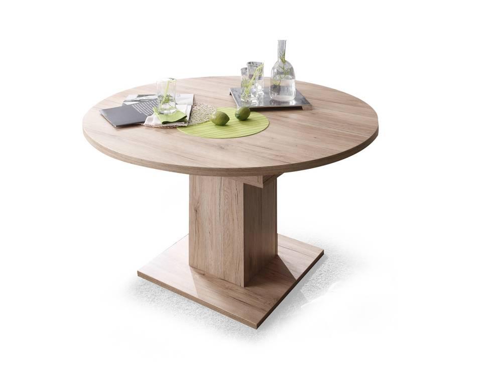 bochum esstisch runder ausziehtisch sanremo eiche 104 cm. Black Bedroom Furniture Sets. Home Design Ideas