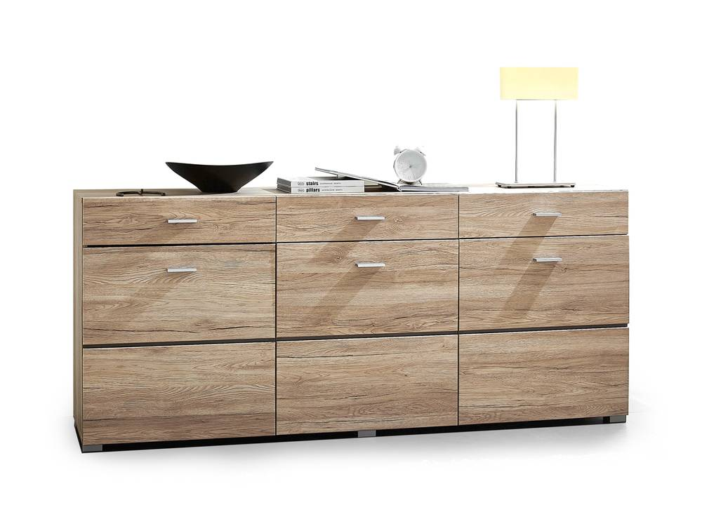 feodora sideboard stauraumelement eiche san remo. Black Bedroom Furniture Sets. Home Design Ideas