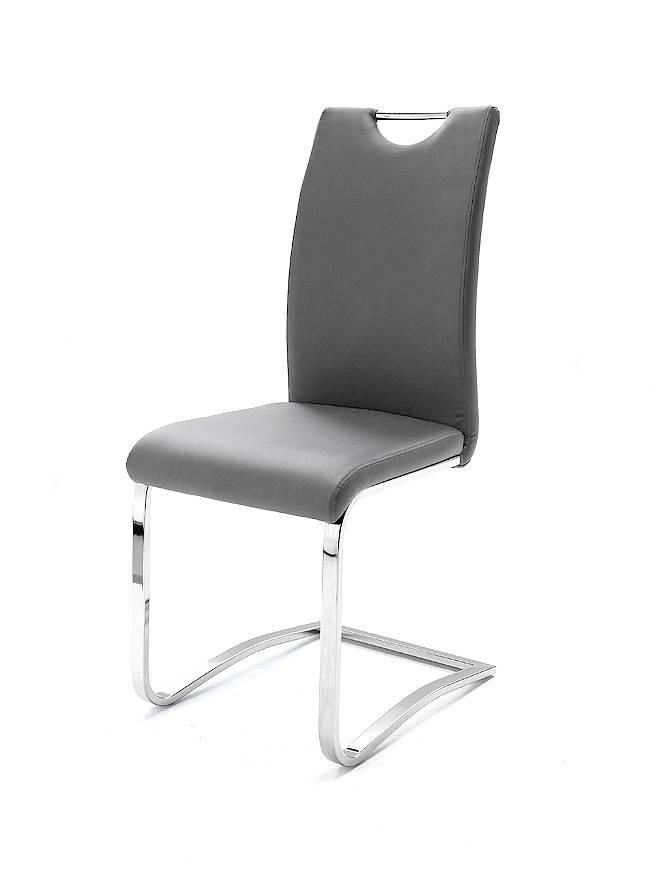 krusty freischwinger esstischstuhl kunstleder grau. Black Bedroom Furniture Sets. Home Design Ideas