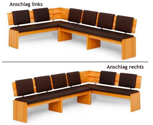 PINO Eckbank / Sitzbank / Lederbank BIG 171 x 248 cm | links | rehbraun DETAIL_IMAGE 4