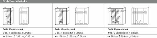 COOKIE Drehtürenschrank 91 cm | Alpinweiss/grau DETAIL_IMAGE 4