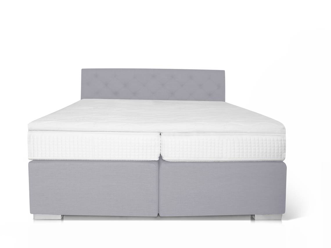 boxspringbett king 90 x 200 cm grau h rtegrad 2. Black Bedroom Furniture Sets. Home Design Ideas