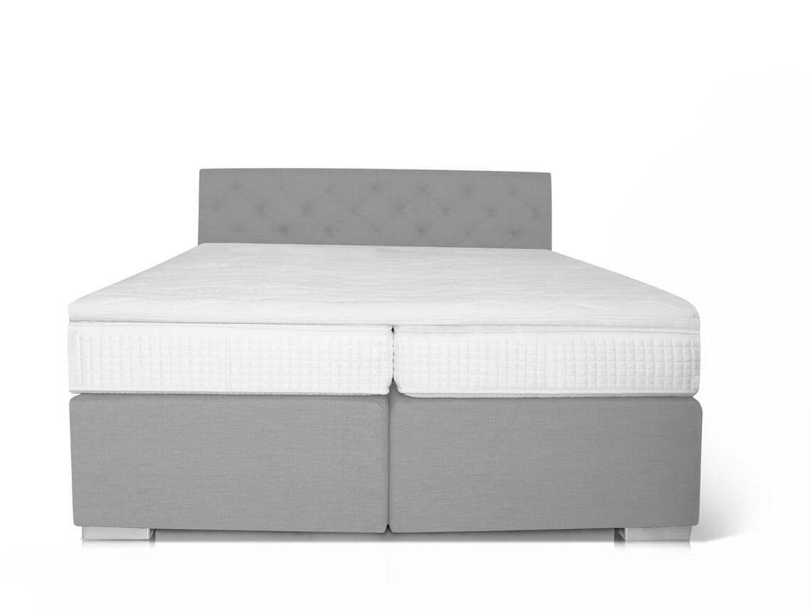 boxspringbett king 90 x 200 cm grau h rtegrad 2. Black Bedroom Furniture Sets. Home Design Ideas