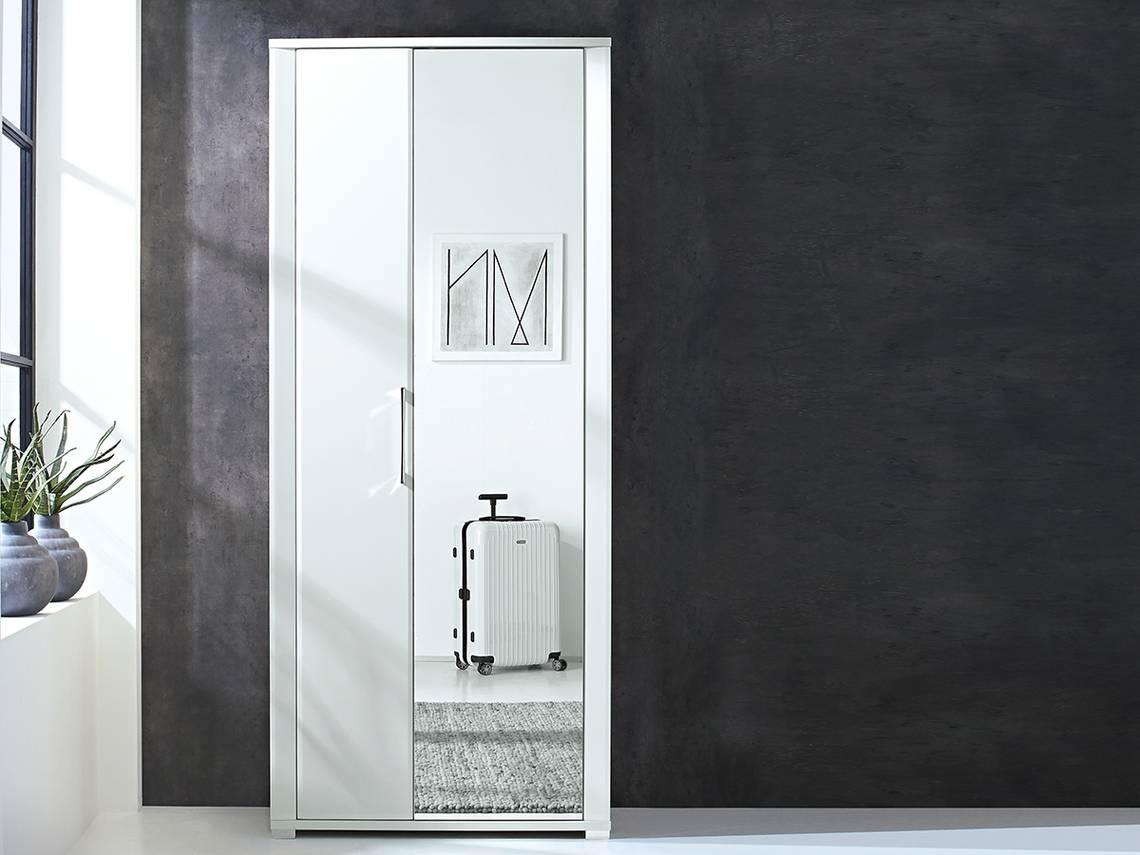 finn garderobenschrank schuhschrank dielenschrank weiss hochglanz detail image 4. Black Bedroom Furniture Sets. Home Design Ideas