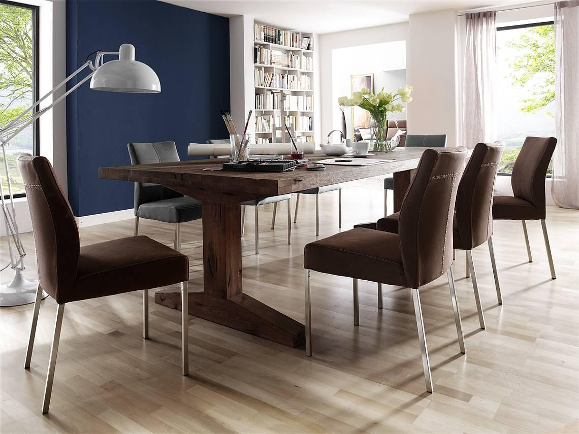 lorenz massivholz esstisch eiche jeder tisch ein unikat 300x120 cm eiche gek lkt. Black Bedroom Furniture Sets. Home Design Ideas