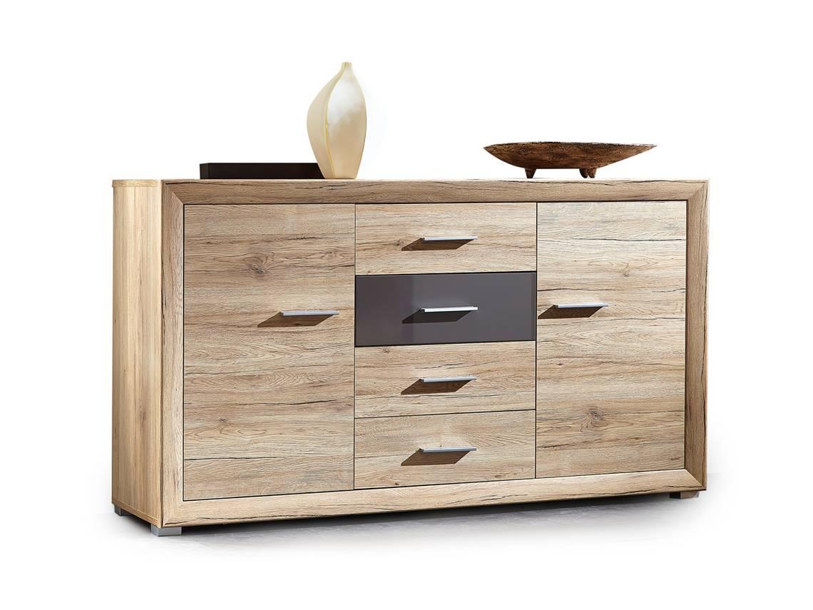 sacco sideboard san remo eiche graphit hg. Black Bedroom Furniture Sets. Home Design Ideas