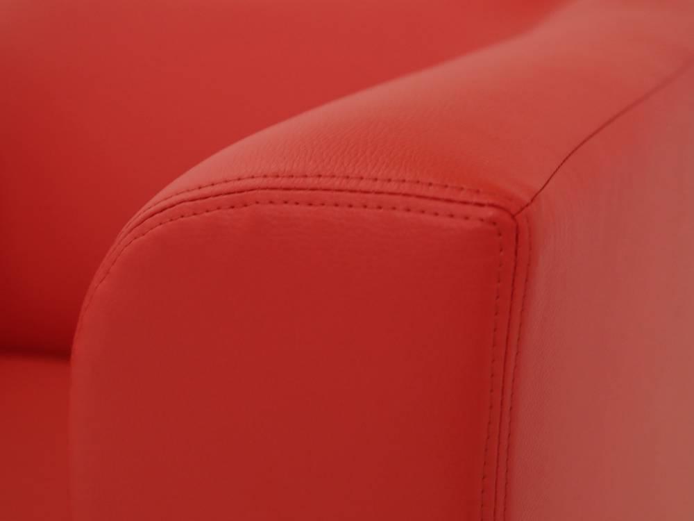 chicago sofa couch 2-sitzer rot rouge kunstleder kunstledercouch 2, Hause deko