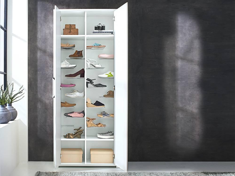 finn garderobenschrank schuhschrank dielenschrank weiss hochglanz. Black Bedroom Furniture Sets. Home Design Ideas