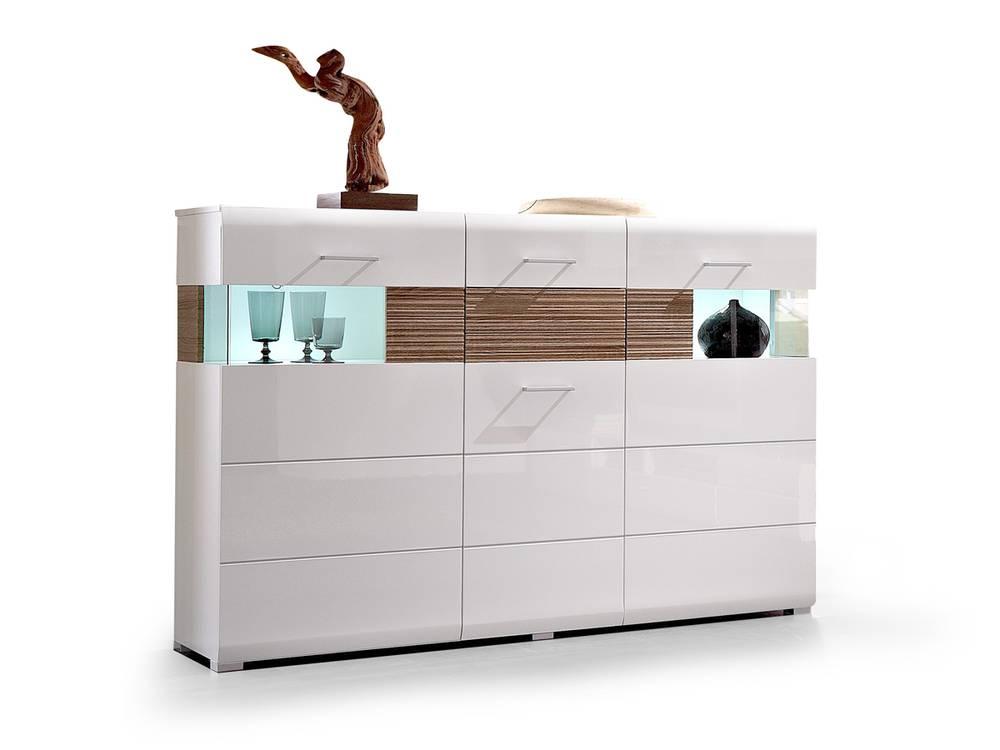 flinn highboard weiss eiche hell. Black Bedroom Furniture Sets. Home Design Ideas