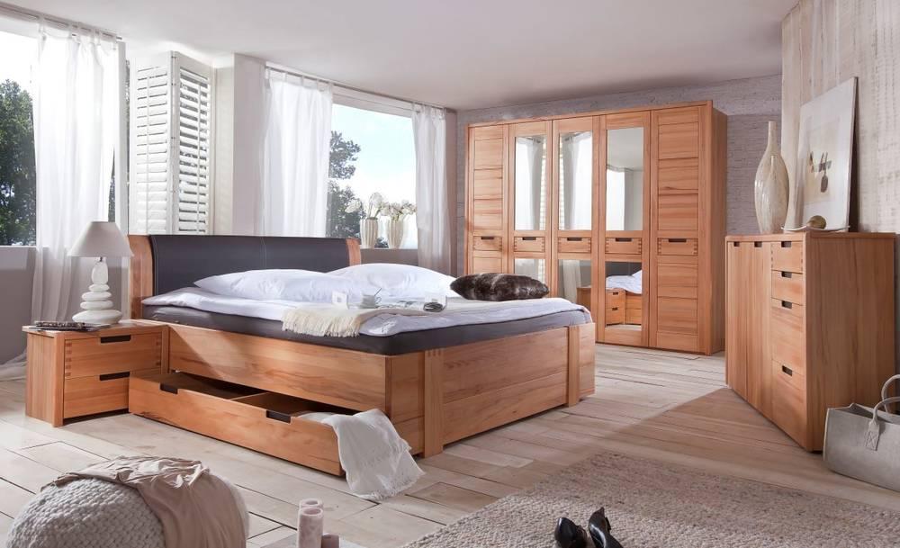 stanford doppelbett teilmassives bett inkl kopfpolster und bettkasten 180 x 200 cm. Black Bedroom Furniture Sets. Home Design Ideas