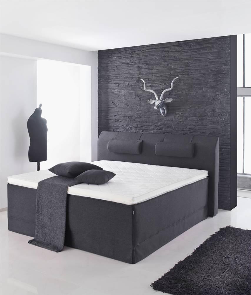 Lani Boxspringbett Doppelbett Schlafzimmer Bett Hochwertig 140x200 ... Schlafzimmer Anthrazit
