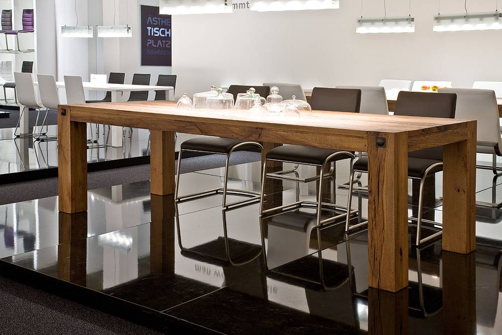 LEEDS Eiche Massivholztisch, jeder Tisch ein Unikat 180x90 ...